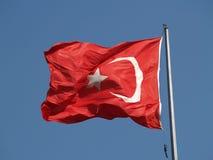 Bandiera nazionale turca Immagini Stock