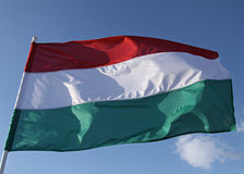 Bandiera nazionale ungherese Fotografia Stock Libera da Diritti