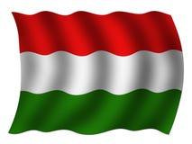 Bandiera nazionale ungherese illustrazione vettoriale