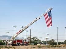 Bandiera nel ricordo dell'11 settembre Fotografia Stock