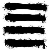 Bandiera nera dell'inchiostro Fotografia Stock Libera da Diritti