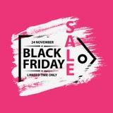 Bandiera nera di vendita di venerdì Fotografia Stock