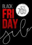 Bandiera nera di vendita di venerdì Progettazione del modello di sconto di vettore royalty illustrazione gratis