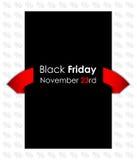 Bandiera nera speciale di venerdì Fotografia Stock