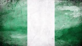 Bandiera nigeriana rustica Fotografia Stock