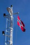 Bandiera norvegese Immagini Stock