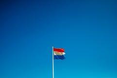 Bandiera olandese tagliata Fotografia Stock Libera da Diritti