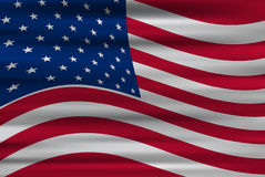 Bandiera ondulata degli Stati Uniti d'America Fotografia Stock