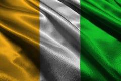 Bandiera originale e semplice di Costa d'Avorio Bandiera di nazione Fotografie Stock