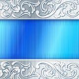 Bandiera orizzontale d'acciaio con gli acetati Fotografia Stock Libera da Diritti