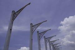 Bandiera Pali dell'acciaio per costruzioni edili Fotografia Stock Libera da Diritti
