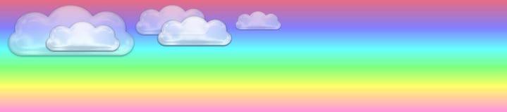 Bandiera pastello e vetrosa delle nubi royalty illustrazione gratis