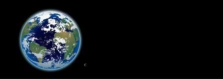 Bandiera Photo-realistic della terra del pianeta Fotografia Stock Libera da Diritti