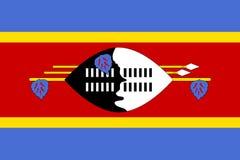 Bandiera piana dello Swaziland Immagine Stock