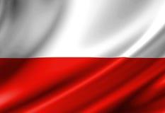 Bandiera polacca Immagini Stock Libere da Diritti
