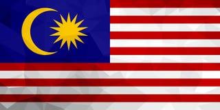 Bandiera poligonale della Malesia Fondo moderno del mosaico Progettazione geometrica royalty illustrazione gratis