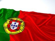 Bandiera portugual d'ondeggiamento Fotografia Stock