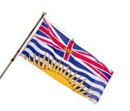 Bandiera provinciale della Columbia Britannica. Fotografia Stock
