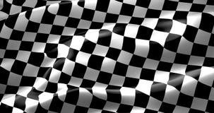 Bandiera a quadretti, fondo della corsa dell'estremità Immagine Stock