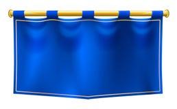 Bandiera reale medievale dell'insegna Immagine Stock