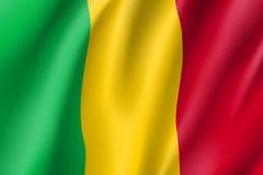 Bandiera realistica del Mali Fotografia Stock Libera da Diritti
