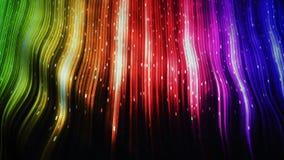 Bandiera realistica dell'arcobaleno che ondeggia nel vento archivi video