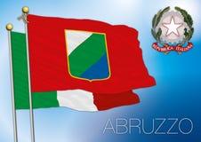 Bandiera regionale dell'Abruzzo, Italia Fotografia Stock Libera da Diritti