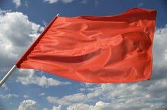 Bandiera rossa. Fotografia Stock