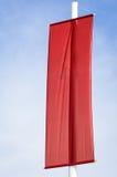 Bandiera rossa in bianco Fotografia Stock