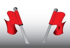 Bandiera rossa della cresta royalty illustrazione gratis