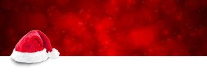 Bandiera rossa di natale Immagini Stock