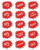 Bandiera rossa di vendita Immagini Stock