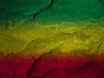 Bandiera rossa, gialla, verde di rasta Fotografie Stock