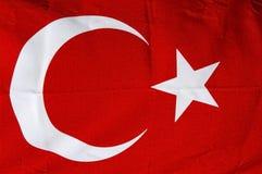 Bandiera rossa turca Immagine Stock