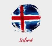 Bandiera rotonda di lerciume dell'Islanda Immagine Stock Libera da Diritti