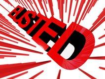 Bandiera rotta Immagini Stock Libere da Diritti