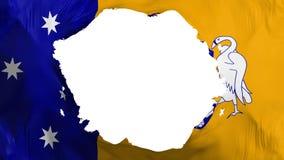Bandiera rotta di Canberra illustrazione vettoriale