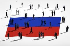 Bandiera russa Fotografia Stock