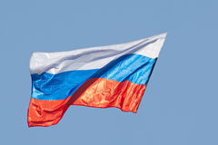 Bandiera russa Fotografie Stock Libere da Diritti