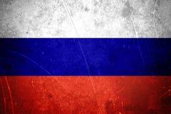 Bandiera russa di lerciume Fotografie Stock Libere da Diritti