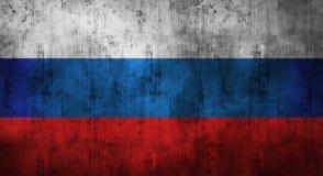 Bandiera russa sgualcita lerciume rappresentazione 3d Fotografia Stock