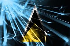 Bandiera scintillante brillante dei fuochi d'artificio di Santa Lucia Bandiera brillante futuristica di concetto del partito del  illustrazione di stock