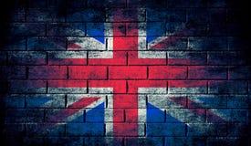 Bandiera scura del Regno Unito Fotografia Stock