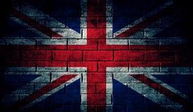 Bandiera scura del Regno Unito Immagine Stock