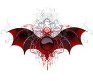 Bandiera scura del vampiro su una priorità bassa bianca Fotografia Stock Libera da Diritti