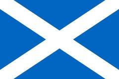 Bandiera semplice della Scozia illustrazione vettoriale