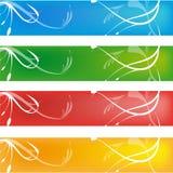Bandiera semplice quattro Fotografia Stock Libera da Diritti