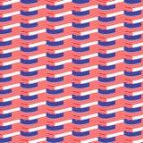 Bandiera senza cuciture degli S.U.A. del modello Immagine Stock