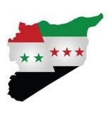 Bandiera siriana Fotografia Stock Libera da Diritti
