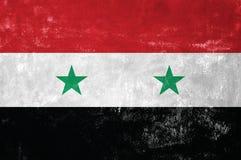 Bandiera siriana Fotografia Stock